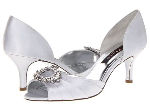 Nina Crystah Silver Satin - Zappos.com Free Shipping BOTH Ways