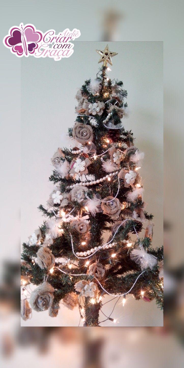 àrvore de natal rústico-chique https://www.facebook.com/ATELIECRIARCOMGRACA