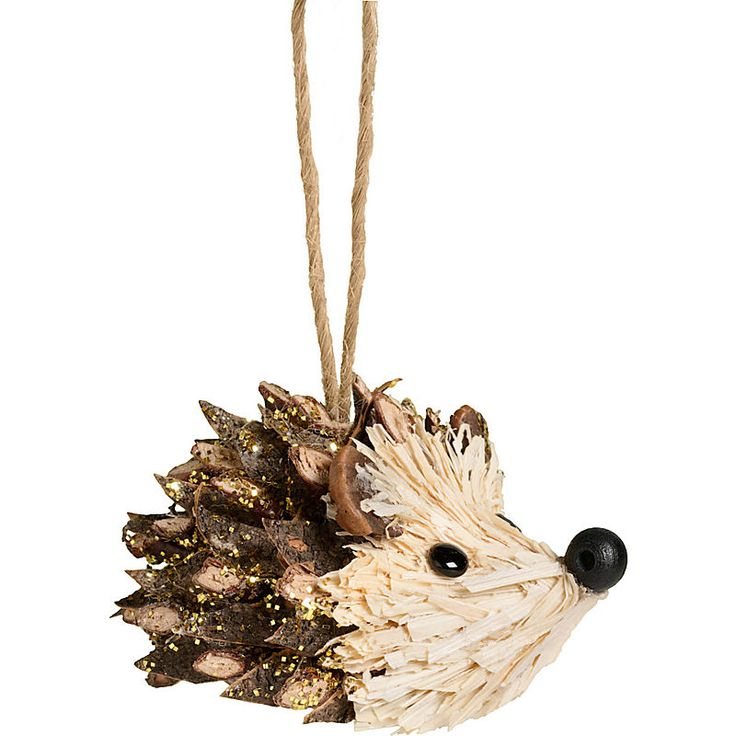 Trendy Glitter Covered Pinecone Hedgehog Ornament - Ornament Reviews