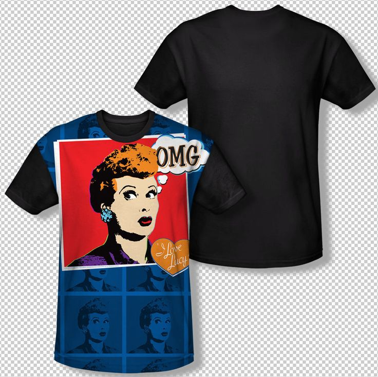 I love lucy omg panel photo lucille ball all over front for Omg i print shirts