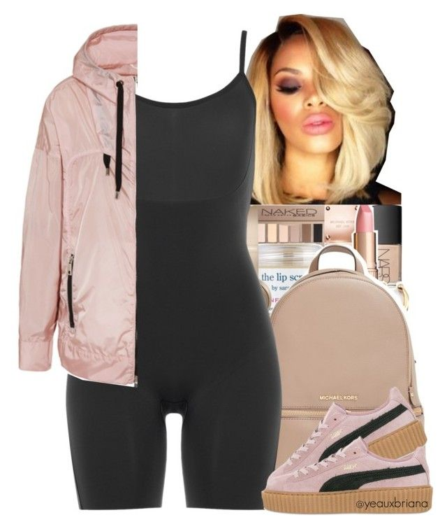 """5/13/2016"" by yeauxbriana ❤ liked on Polyvore featuring MICHAEL Michael Kors, SPANX, FAY and Puma"