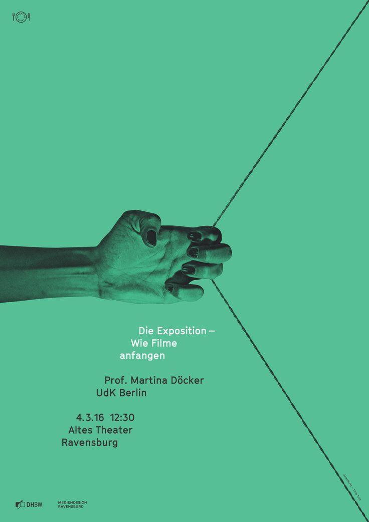 LTT – Lunchtime Talk :: Die Exposition – Wie Filme anfangen – Martina Döcker, UdK Berlin. Poster by Timo Tóth, 2016