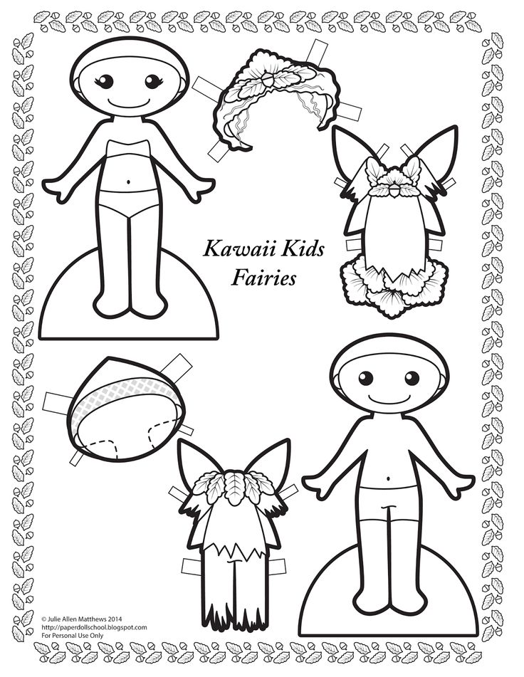 paper doll school kawaii wednesday fairies black and white fairy paper dolls to color. Black Bedroom Furniture Sets. Home Design Ideas