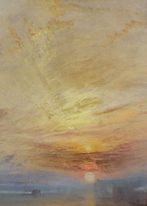 J. M. W. Turner, The Fighting Temeraire (detail), 1839