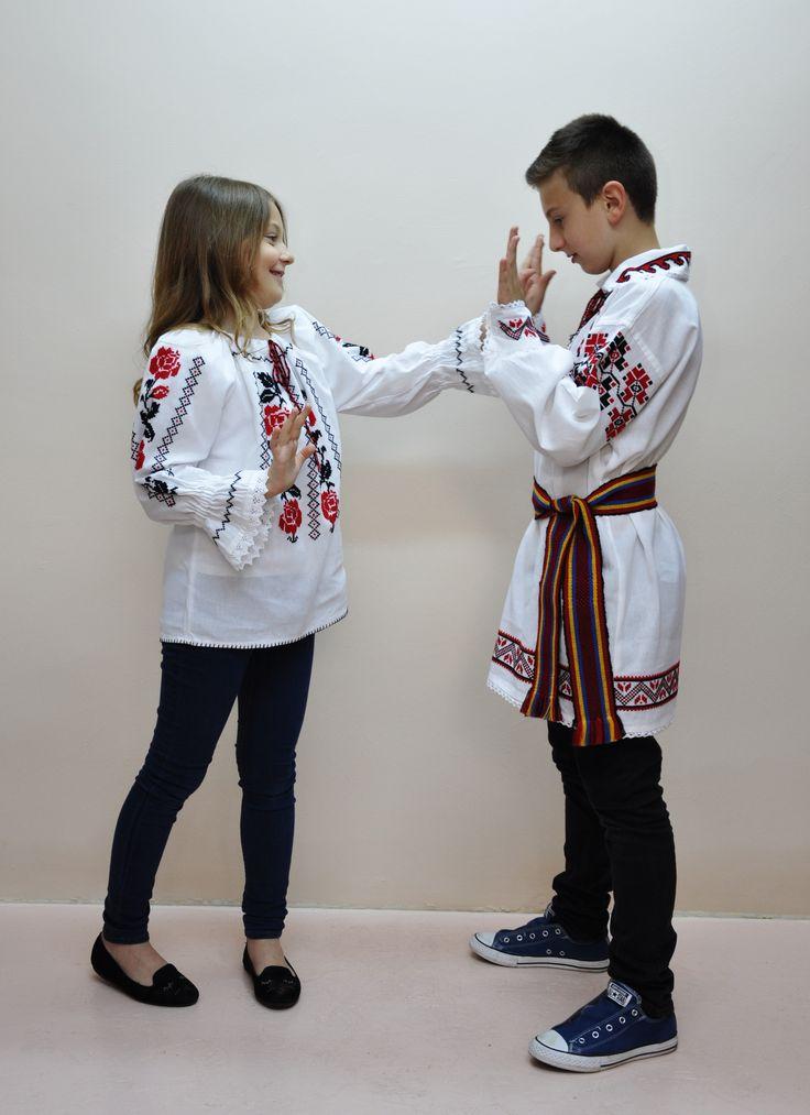 Blouse roumaine,  boys and girls, handmade 100%