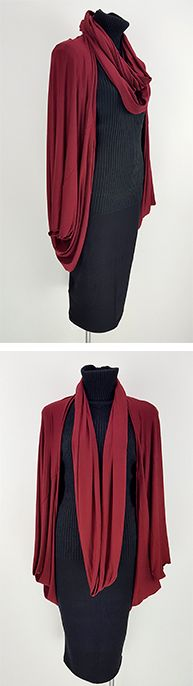 A couple of pieces we make ourselves! Our gorgeous stretch rayon jersey Cocoon Cardi + Infinity Snood. Both these pieces are ETHICAL + HANDMADE and oh so wonderful to wear!   Shop this style > Online or visit us in Noosa! <3  www.kobomo.com.au