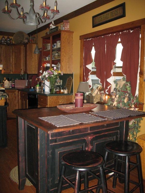 primitive kitchen love this - Primitive Kitchen Tables