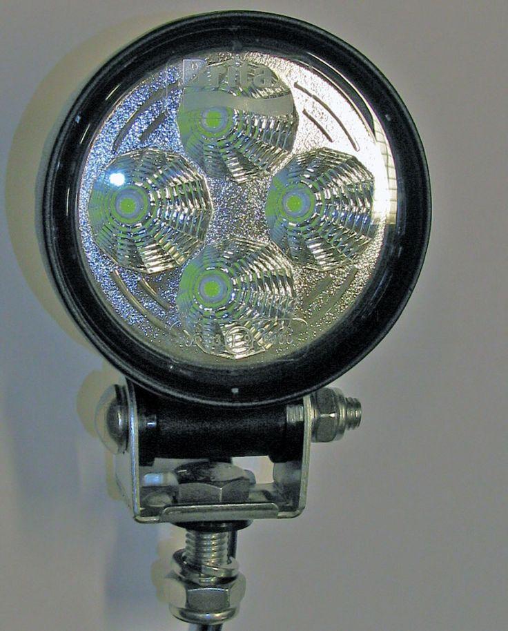 LED Arbeitsscheinwerfer 10-30V Rund 4LED 600Lumen EMV-geprüft