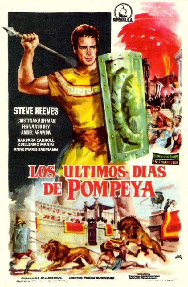 Los últimos días de Pompeya (1959) - tt0054422   Carteles de películas  famosas, Afiche de cine, Carteleras de cine