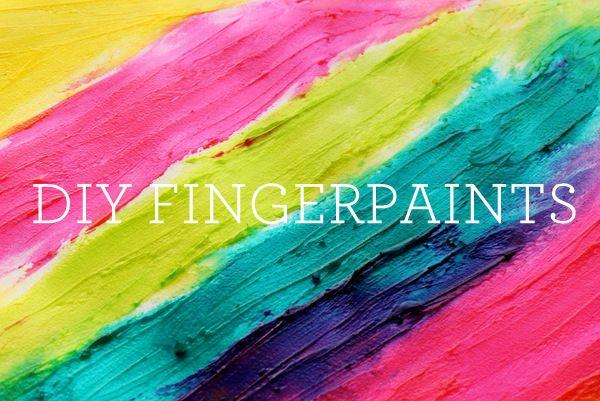 make your own eddible fingerpaints