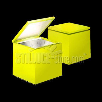 Cinie Nils Cuboled Flash lampada da tavolo;   Struttura in tecnopolimero  Colore: giallo.