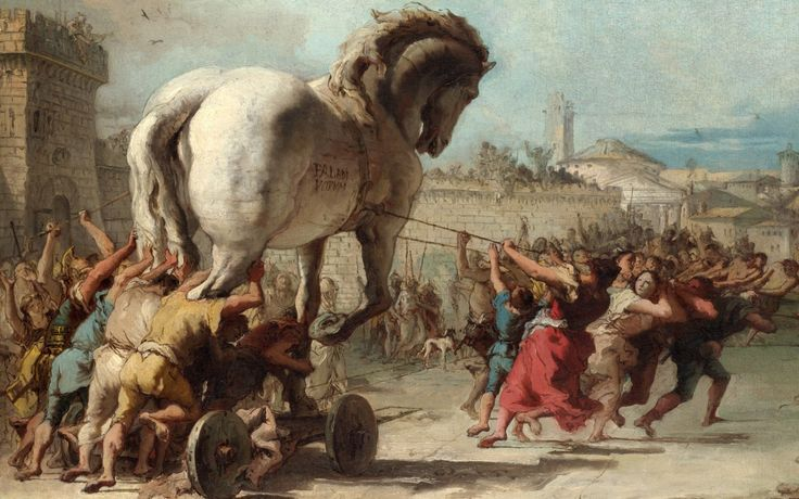 'The Trojan Horse' by Giovanni Batista Tiepolo.