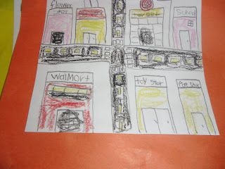 Me in my city - students draw favourite locations in their city