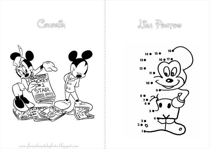 Colorir: Mickey E Minnie. Minnie