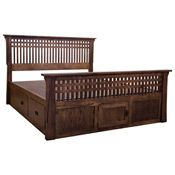 Amish Mission Bungalow 11-Drawer Dresser w/ Doors - BFFCB6027A0-BFFCB6948A0. Bed frame in white