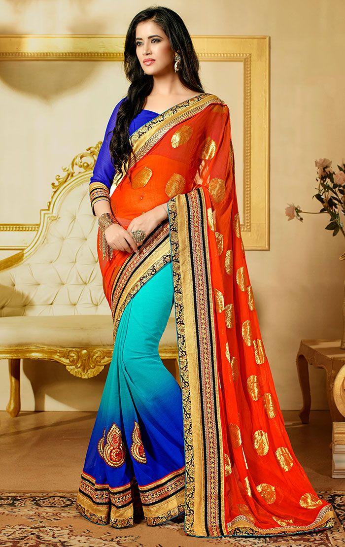Price :- INR 2521  Design No. : TSN32001  Product Page :- http://www.unnatiexports.com/design/closeup/women-party-wear-sarees-a-166-b-1.html