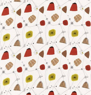 1950s textile by Lucienne Day for Heals.