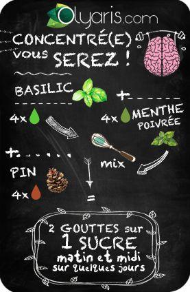 Comment garder votre adolescent concentré alors que demain c'est devoir de math ? Suivez cette recette d'Olyaris à l'huile essentielle de basilic.