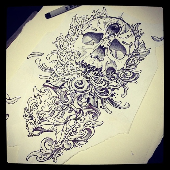 So Much Detail #Skull #Sharpie #Drawing