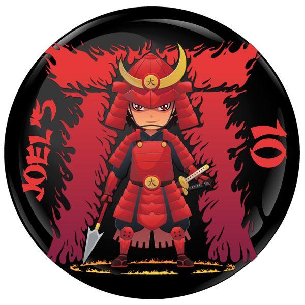 Samurai Personalised Birthday Party Badge #935