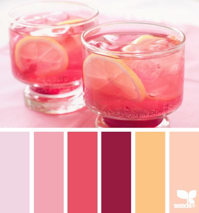 refreshing pink:  Craft Room colours?