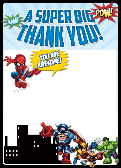 thank you notes for lunch just bCAUSE : 21063f918f77e685f3b9c03187eccc1d superhero thank you cards all superheroes from justbcause.com size 500 x 695 jpeg 58kB