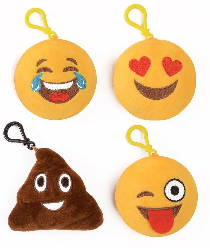 Emoji Universe: Talking Emoji Backpack Clips Key Chains; Plush Keychains Make...