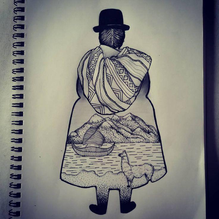 A #custom #sketch for Sofia's #tattoo tomorrow representing her #bolivian…