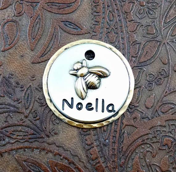 Custom Dog ID Tag Bee-Dog Tag for Dogs-Personalized Bee-ID Tag
