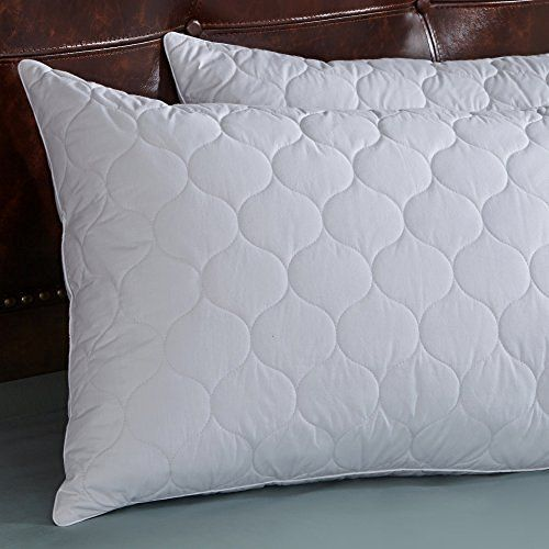 Standard Size White Goose Feather and Goose Down Pillows - Set of 2