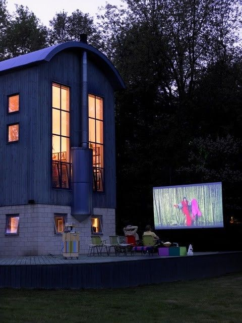 One day I will watch movies in my own backyard!
