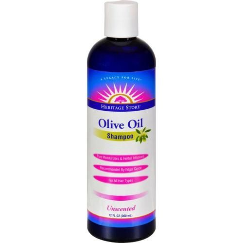 Heritage Store Olive Oil Shampoo - Unscented - 12 Oz