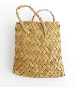 Mini Flax Kete Bag
