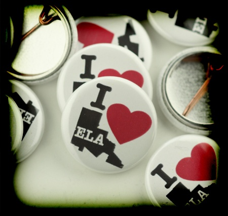 I love East LA custom buttons for the non-profit: innercitystruggle.org who are campaigning so that all children can have increased access to college and higher education.