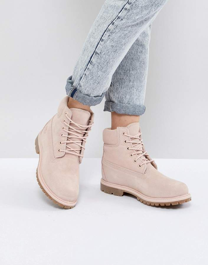 Timberland 6 Inch Premium Rose Suede Flat Boots Suede Flat Boots Timberland Boots Boots