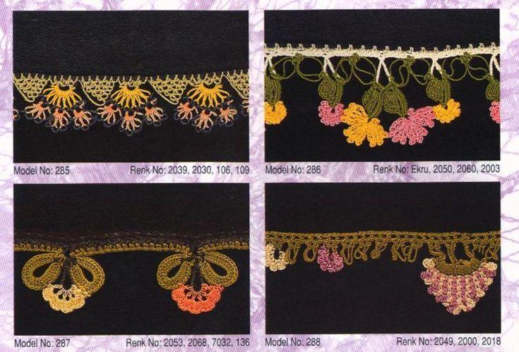 yazma oya modeli, oya örnekleri: Needle Logos, Needle Lace, Işi Oya, Tığ Oyaları, Edgings Lace, Crochet Oya, Kenar Işi