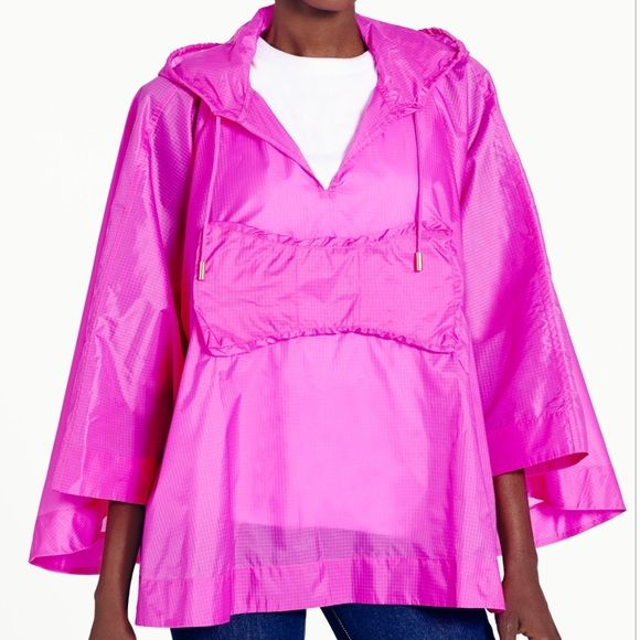 Kate Spade Rio Pink Rain Poncho - one size NWT Rio Packable Rain Poncho kate spade Jackets & Coats