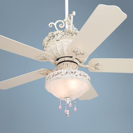 """52"""" Casa Chic Ceiling Fan with Pretty and Pink Light Kit"""