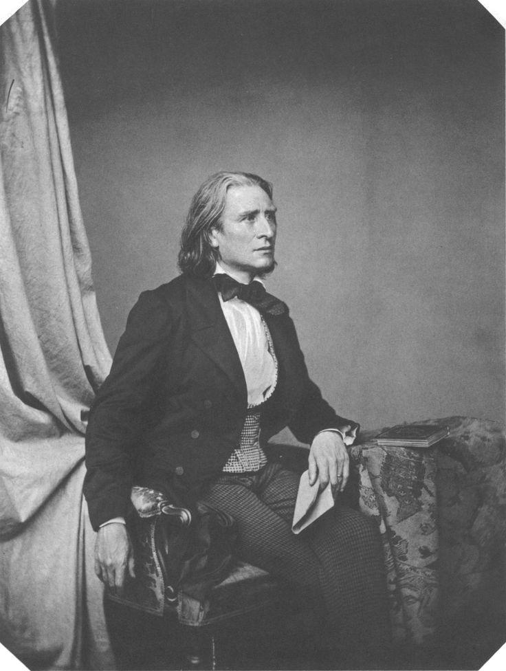 Franz Liszt, Austrian-Hungarian composer, still looking quite foxy at 47 in 1858.   My Daguerreotype Boyfriend