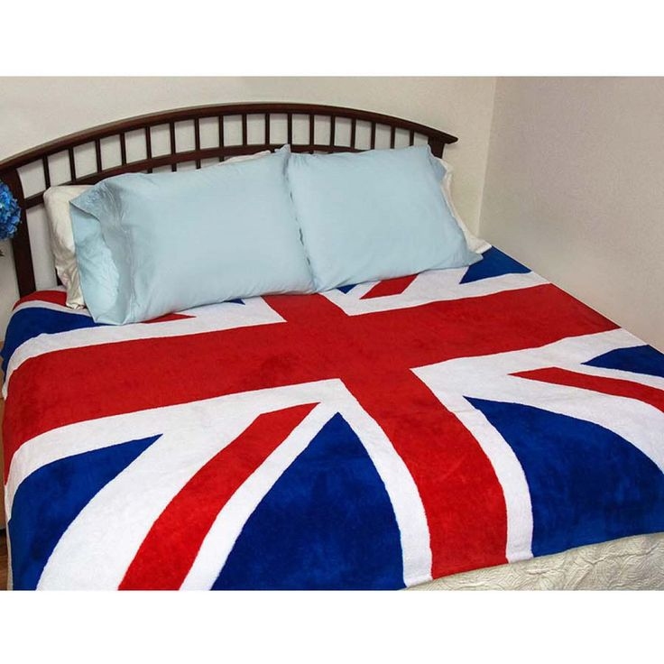 """Union Jack Fleece Blanket - Give guests an Anglophile's welcome with this bright and cheery, heavy-duty Union Jack doormat. Made of natural coir-—the tough fiber extracted from seasoned coconut husks—-this unique doormat holds its shape despite constant use. Easy to clean. 29""""w x 17""""h."""
