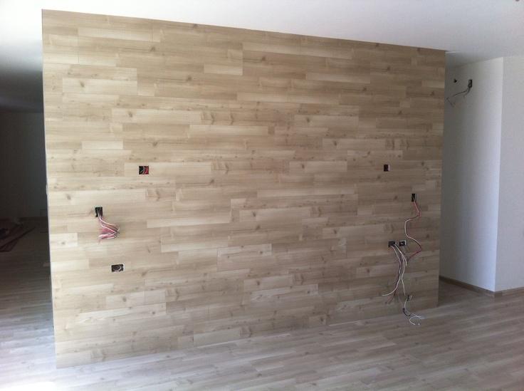 Muro con piso laminado! te gustaría en tu hogar ...