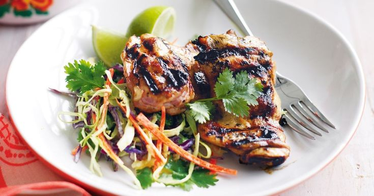 Add a touch of something sweet to your next barbecue menu with these chicken fillets with pineapple slaw.