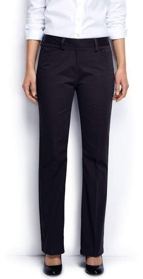 98240714dbb Lands  End Lands end Women s Plus Size Straight Fit Plain Boot Cut Chino  Pants  Straight Fit Size