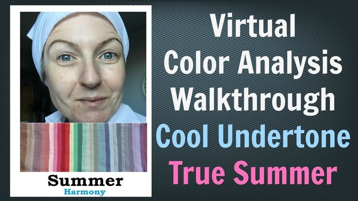 Summer Color Palette - Virtual Color Analysis | Cool Skin Undertone | Wh...