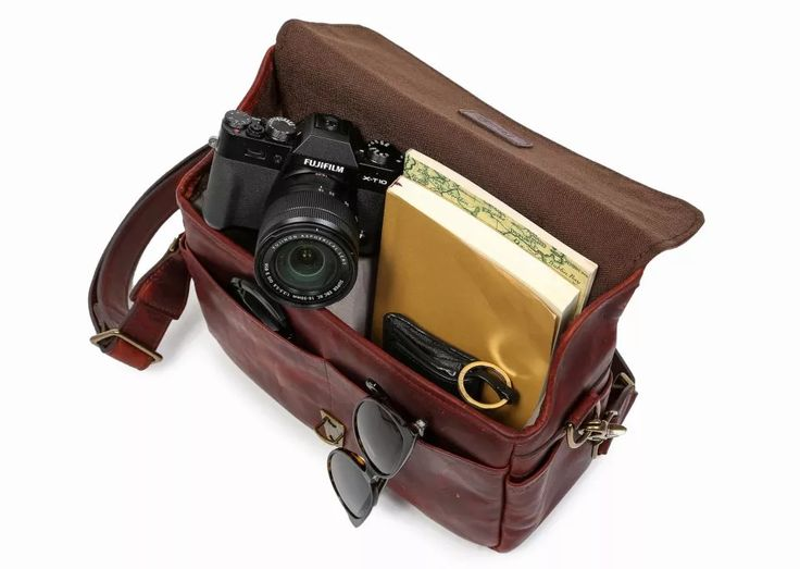 ONA | The Leather Bowery Camera Bag and Insert - Bordeaux