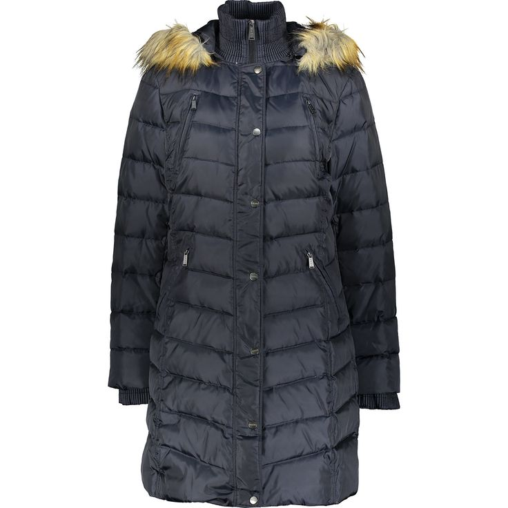 """DKNY"" Blue Faux Fur Padded Coat - TK Maxx | Fashion, Coat ..."
