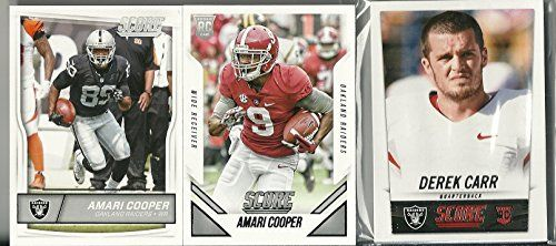 2014 2015 & 2016 Panini Score Football Oakland Raiders 3 Team Set Lot 39 Cards W/Rookies Derek Carr Amari Cooper Conner Cook Rookie Card