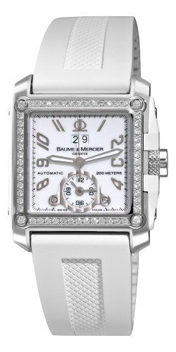 Baume & Mercier Men's A8842 Hampton Square White Dial Diamond Watch : Watches   Best Luxury Watches Shop