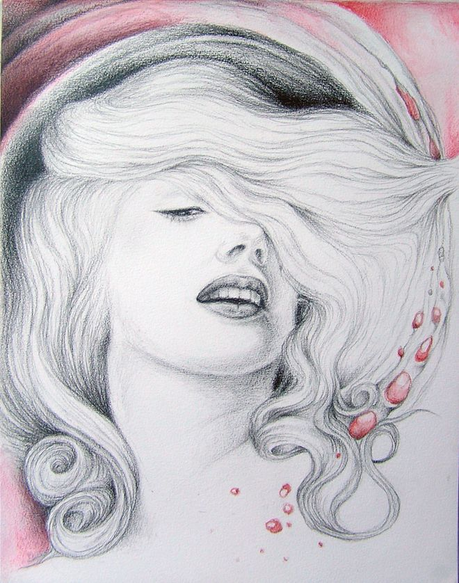 Marilyn Monroe drawing. ..almost done.