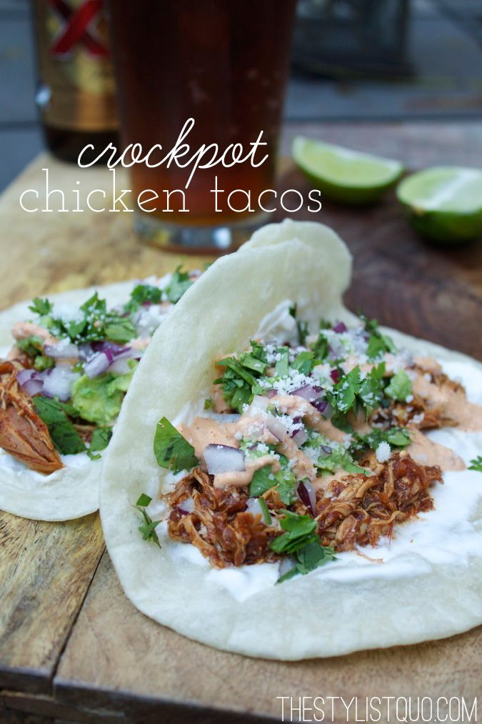 Crockpot Chicken Tacos // The Stylist Quo